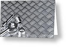 Mechanical Socket Background Greeting Card