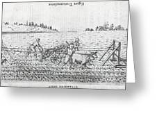 Mechanised Plough, 16th Century Artwork Greeting Card by Middle Temple Library