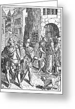 Medieval Prison, 1557 Greeting Card