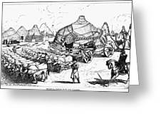 Medieval Tartar Huts Greeting Card