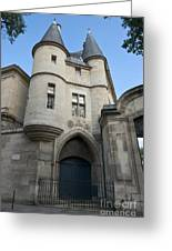 Medieval Tower Of Hotel De Soubise Greeting Card