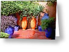 Mediterranean Garden Greeting Card
