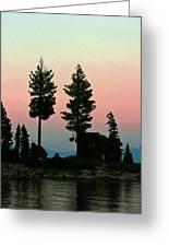 Meeks Bay Sunset. Greeting Card