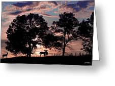 Meeting In The Sunset Greeting Card
