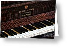 Mehlin And Sons Piano Greeting Card