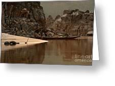 Mekong Landscape Laos Greeting Card