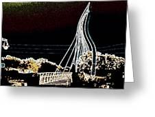 Melting Bridge Greeting Card by David Alvarez