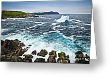 Melting Iceberg In Newfoundland Greeting Card
