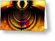 Melting Pot . Gold . Horizontal Cut . S8a.s11 Greeting Card