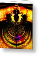 Melting Pot . Gold . S8a.s11 Greeting Card by Wingsdomain Art and Photography