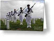 Members Of A Ceremonial Honor Guard Greeting Card