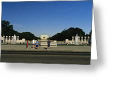 Memorial Plaza Of The World War II Greeting Card by Richard Nowitz