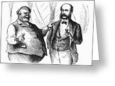 Men Drinking, 1872 Greeting Card