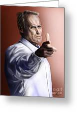 Men Must Know Their Limitations-clint Eastwood Greeting Card by Reggie Duffie