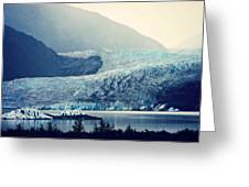 Mendenhall Glacier On A Foggy Morning Greeting Card