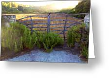 Menorcan Gate Greeting Card
