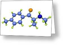 Mephedrone Molecule Greeting Card