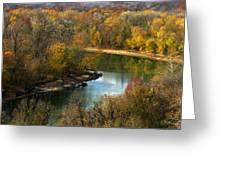 Meramec River Bend At Castlewood State Park Greeting Card