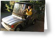 Mercedes Golf Cart Greeting Card