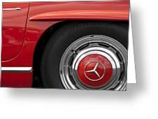 Mercedes Wheel Greeting Card