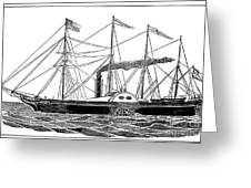 Merchant Steamship, 1838 Greeting Card