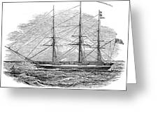 Merchant Steamship, 1844 Greeting Card