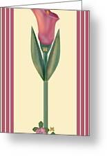 Merlot Calla Lily Banner Greeting Card