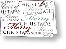 Merry Christmas Words Greeting Card