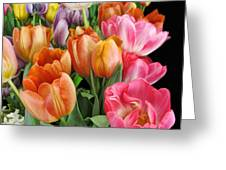 Merry Dresden Style Tulips Greeting Card