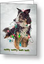 Merry Merry Bark Bark Greeting Card