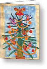 Merry Xmas Tree Fairies Greeting Card