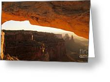 Mesa Arch First Light Greeting Card
