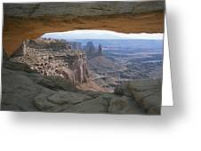 Mesa Arch In Utahs Canyonlands National Greeting Card