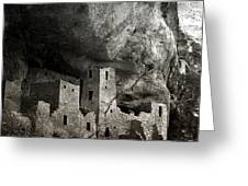 Mesa Verde - Monochrome Greeting Card by Ellen Heaverlo