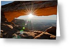 Mesa's Arch View Greeting Card