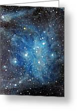 Messier 45 Pleiades Constellation Greeting Card