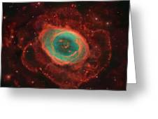 Messier 57, The Ring Nebula Greeting Card