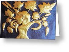 Metal Flowers Greeting Card by Rejeena Niaz