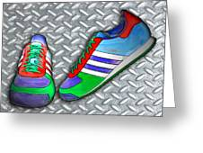 Metal Grate Sport Shoe Greeting Card