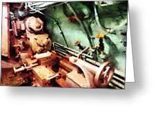 Metal Lathe In Submarine Greeting Card