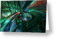 Metal N Shattered Glass Fx  Greeting Card