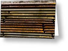 Metal Stripe  Greeting Card