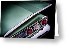 Metalic Green Impala Wing Vingage 1960 Greeting Card