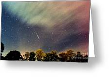 Meteor Perseid Meteor Shower Greeting Card
