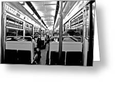 Metro Ride Greeting Card