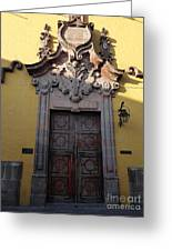 Mexican Door 28 Greeting Card