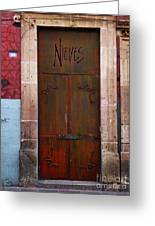 Mexican Door 36 Greeting Card