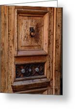 Mexican Door Decor 5  Greeting Card