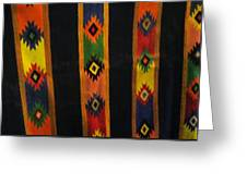 Mexican Throw Rug Colorful Greeting Card