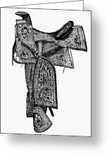 Mexico: Saddle, 1882 Greeting Card